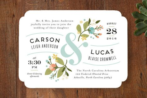 floral ampersand Wedding Invitations by Jennifer Wick at minted.com