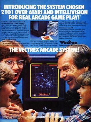 Publicité pour la Vectrex de 1984