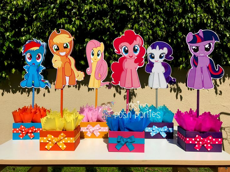 My Little Pony Birthday Party Centerpiece Favors Guest Table