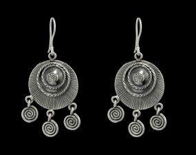 Brinco de Prata Bali Duplo com Espiral. Compre seu brinco de prata na loja virtual da Prata Fina em até 6x sem juros. Compra online, rápida e segura. Confira!