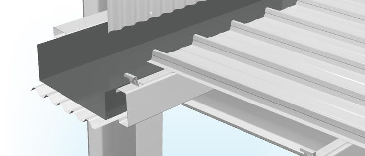 Stratco Box Gutter Roof Flashing Example