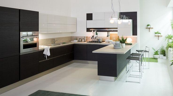 cocinas-blancas-negras-muebles-estilo-moderno
