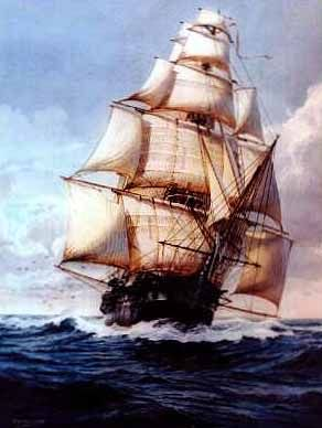 U.S.S Constitu | The United States Navy's three-masted frigate USS Constitution, better ...