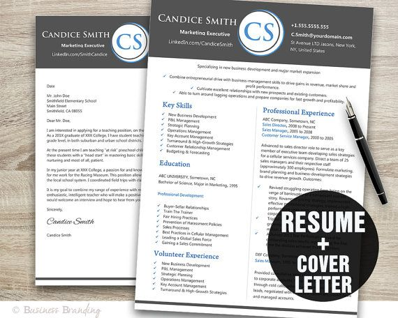 business resume template instant download by businessbranding