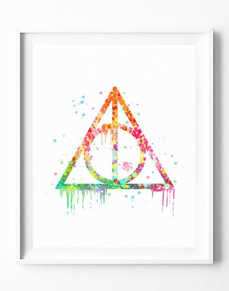 Digitaldruck - Harry Potter, Zauber, immer Zitat Schlafzimmer Dek - ein Designerstück von watercolorart bei DaWanda