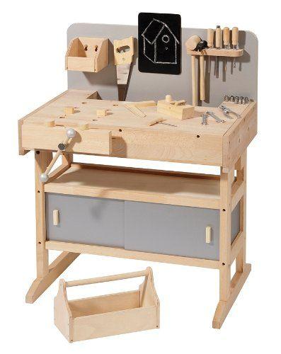 massive workbench howa hardwood with tool box and 32 pcs Tool 4900: Amazon.de: Toys
