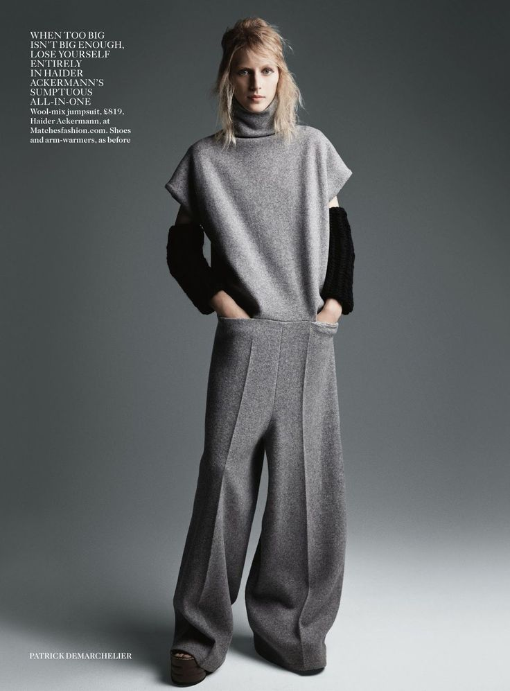the new now: julia nobis by patrick demarchelier for uk vogue august 2014