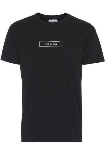 Square T-shirt Black - Faire Du Bien