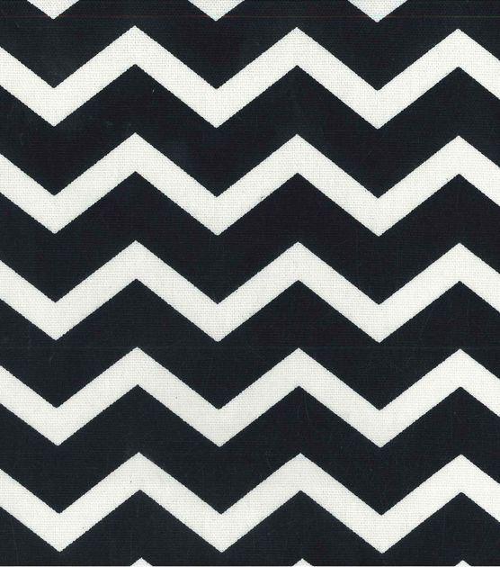 "45"" Home Essentials Print Fabric Chevron Black"