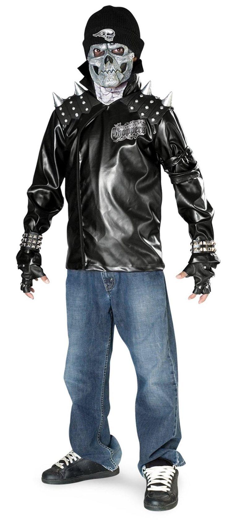 Metal Skull Biker Teen Costume from Buycostumes.com