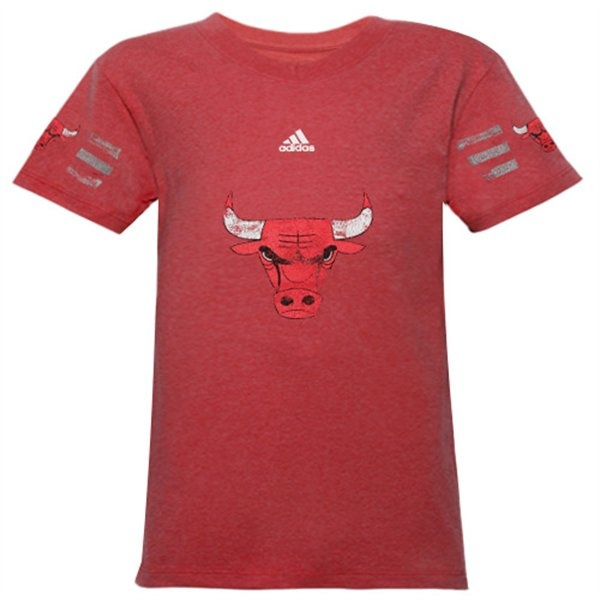 Chicago Bulls YOUTH Girls Fashion V-Neck Heathered T-Shirt by Adidas $24.95