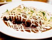 Silky, Spicy Mole Sauce (Heat: pasilla, chipotles in adobo; Weight: black beans; Rich: dark chocolate, almonds)