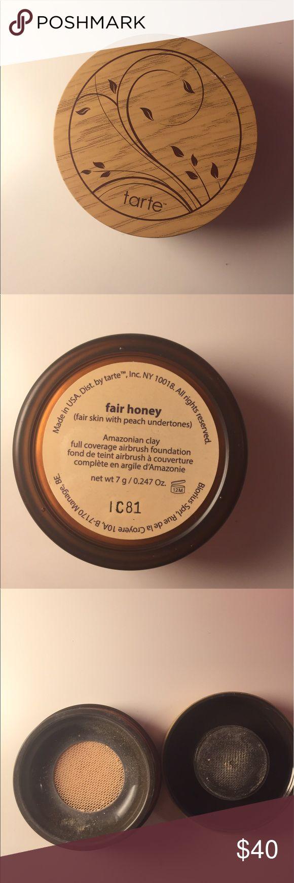 Tarte Amazonian Clay Airbrush Foundation In shade fair honey. barely used tarte Makeup Foundation