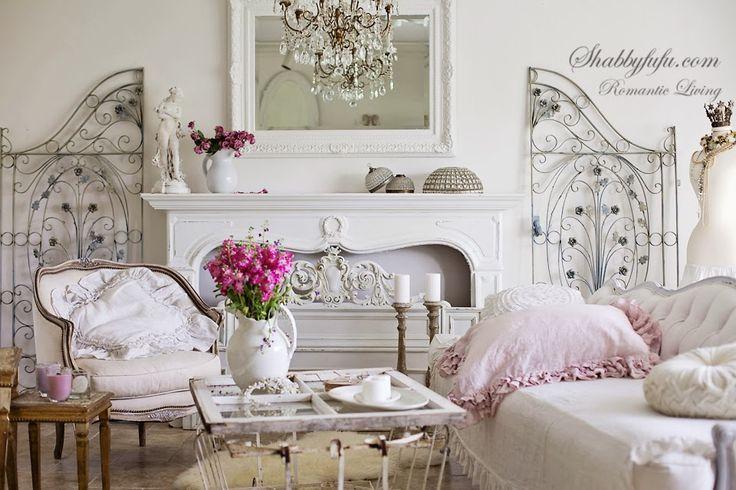 Romantic Old Salvage French Iron Gates Patina Gardenjunk Salon Shabby
