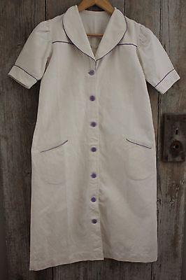 Vintage Linen French Work Uniform Medical Nurse's Dress White Linen | eBay