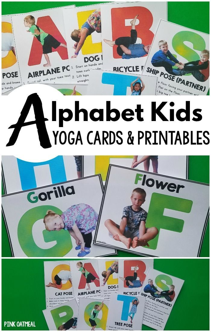graphic relating to Yoga Cards Printable identify Alphabet Small children Yoga Playing cards and Printables Yogaaa Yoga for