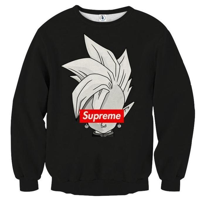 7c042ab245b DBZ Zamasu Supreme Kai Logo Creative Black Edition Sweatshirt  sweaters   sweatshirts  dragonball