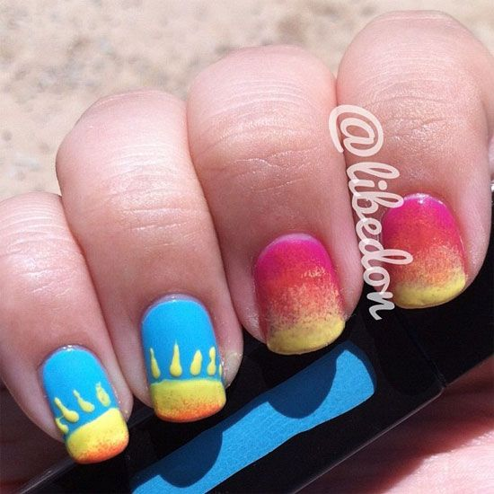 15-Cool-Easy-Summer-Nail-Designs-Ideas-For-Girls-2013-12 THE MOST POPULAR NAILS AND POLISH #nails #polish #Manicure #stylish
