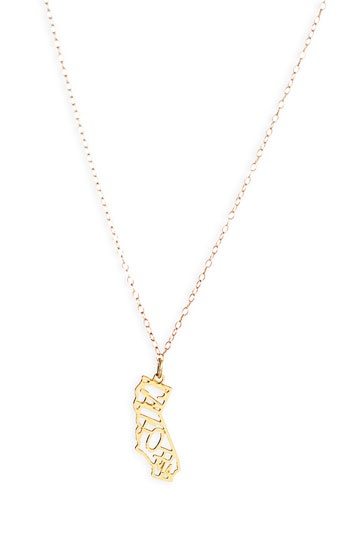 I left my <3 in Cali - Kris Nations State Pendant Necklace $42