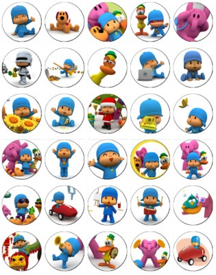 30 x Pocoyo Rice Paper Fairy Cup Cake Toppers | eBay
