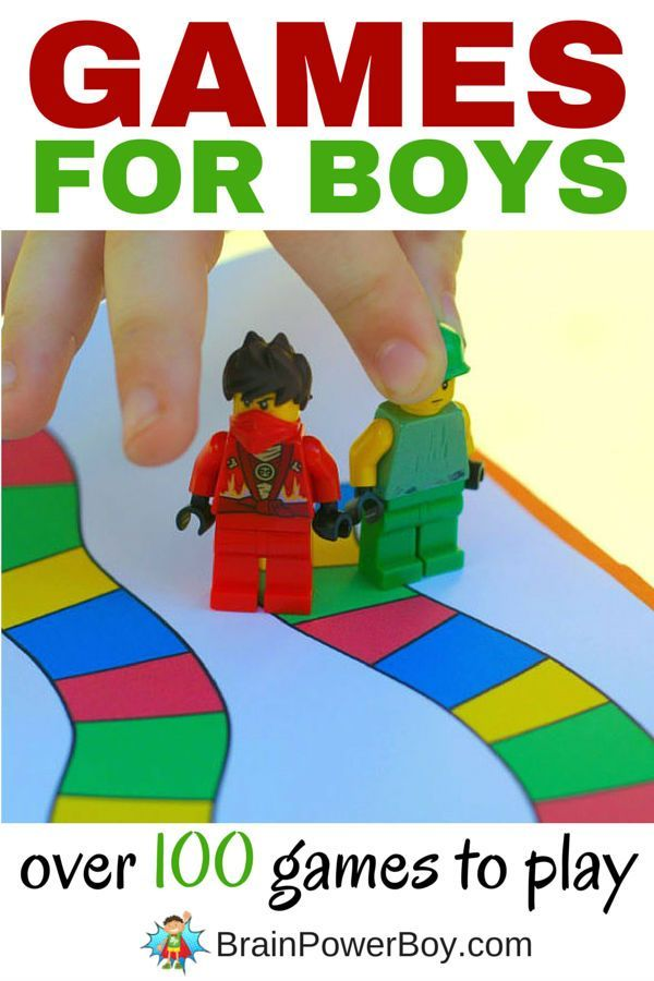 Huge collection of games for boys that they will ask to play again and again…