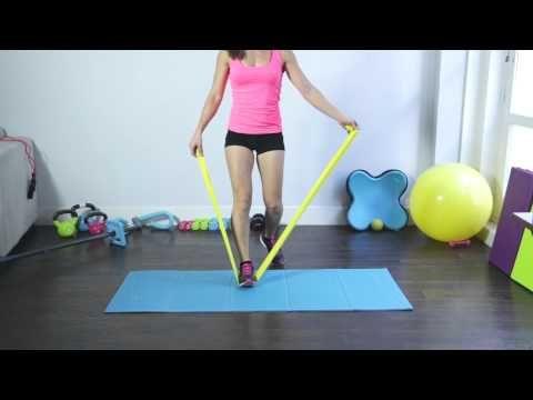 Ejercicios con banda elástica para tonificar el cuerpo - Circuito (5/5) - YouTube