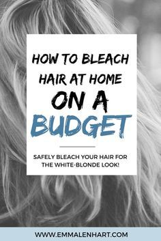 How To Bleach Hair At Home Safely And On A Budget Dyed Blonde