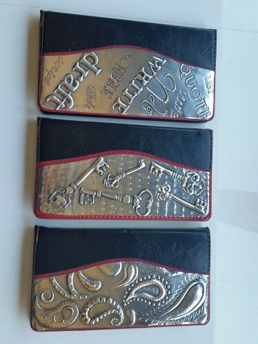 Leather and Pewter notebooks by Debbie