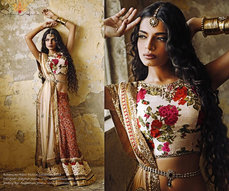 Bohemian-Rani Festive Collection 2013- check out my full collection on my facebook page- dreamsbysapana and soon on my webiste www.sapanaamin.com