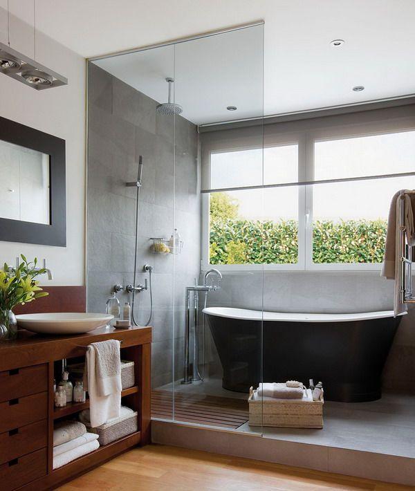 Revestimientos para suelos y paredes de ba os ba os pinterest ba os duchas y ducha y ba era - Revestimientos para duchas ...