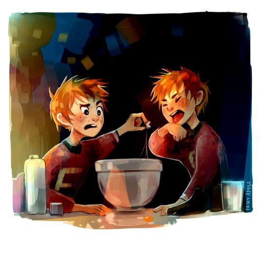 Situación: Los gemelos probando sus nuevos caramelos, menos mal que me fui antes de que me hicieran probarlos