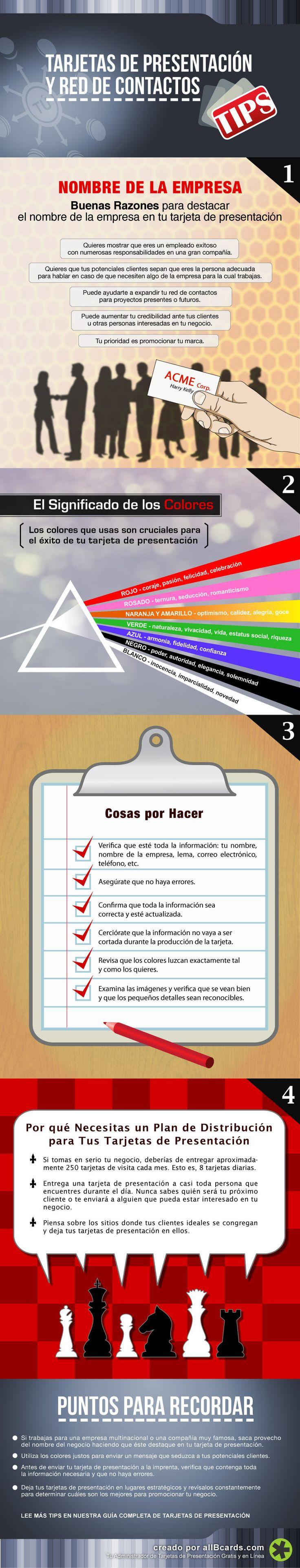 Consejos para tus tarjetas de visita #infografia #infographic #marketing