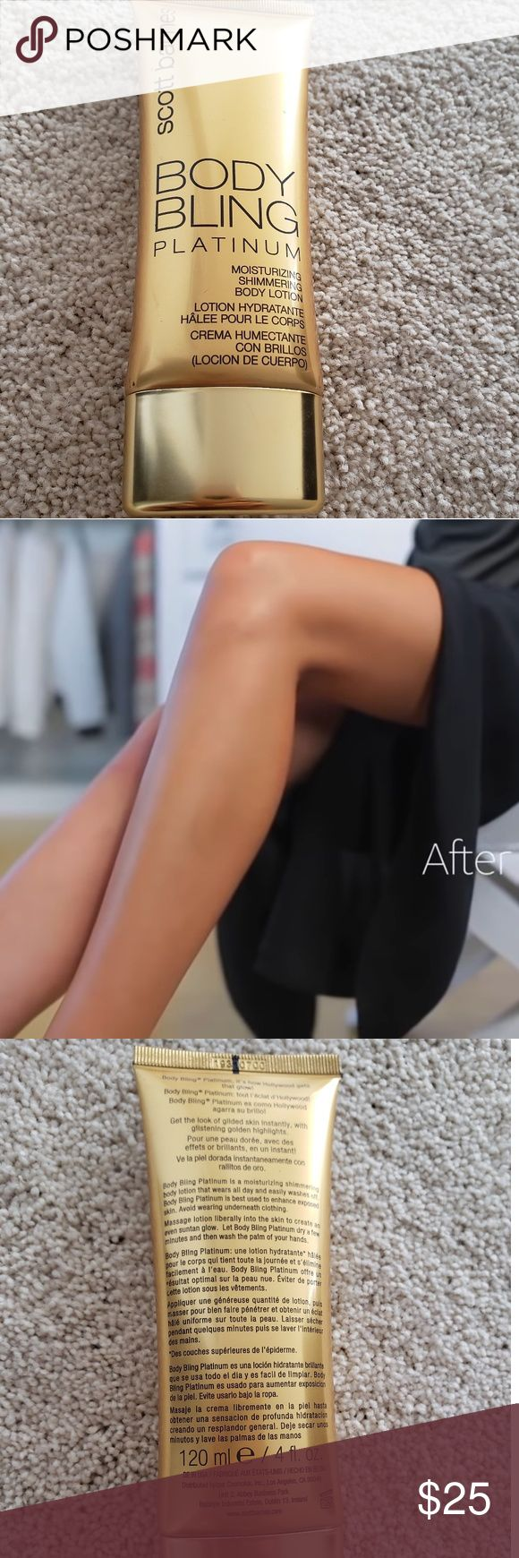 SCOTT BARNES BODY BLING PLATINUM Shimmer body lotion