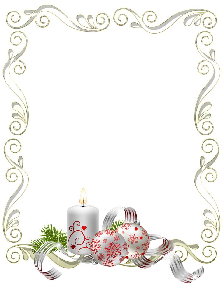Christmas frame bulbs and candles silver