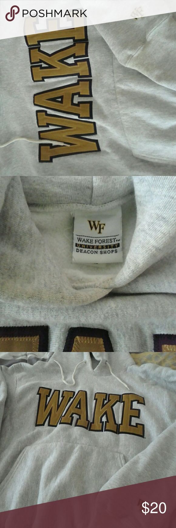 Wake Forest University Deacon Shop Hoodie$20 Wake Forest University Deacon Shop  designer Hoodie .$20 Sz.Large to XL.sold originally for $80 Wake Forest Deacon Shop Jackets & Coats Performance Jackets