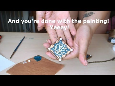How to make your own Triss Merigold medallion - polymer clay jewelry - YouTube