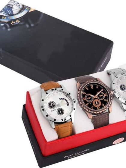 e0260232d8a Stylish and Attractive Combo 3 Watches For Men and Boys
