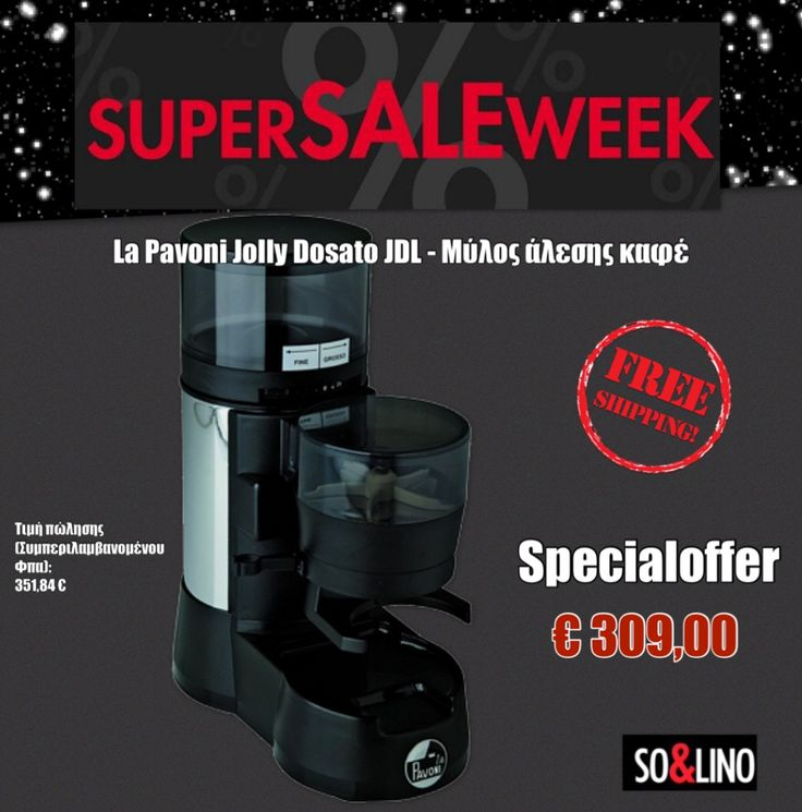Read more or order now online: http://www.solino.gr/la-pavoni/μύλοι-άλεσης-καφέ/1215/la-pavoni-jolly-dosato-jdl-μύλος-άλεσης-καφέ-detail.html