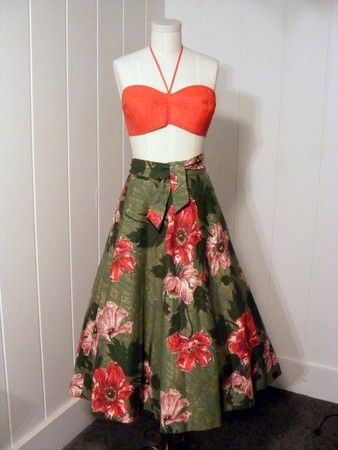 Hawaiian style Dress set  http://www.etsy.com/shop/vintagebluemoon