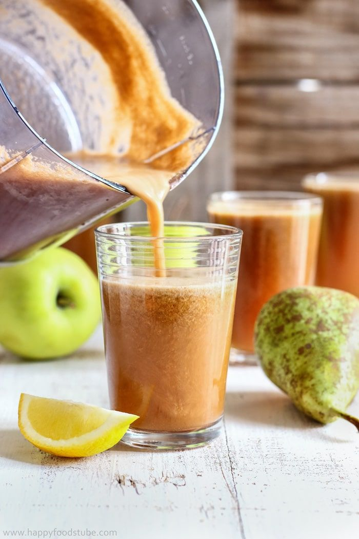 Cloudy Apple Pear Juice Recipe. Healthy juicing recipes. Boost your body with vitamins.