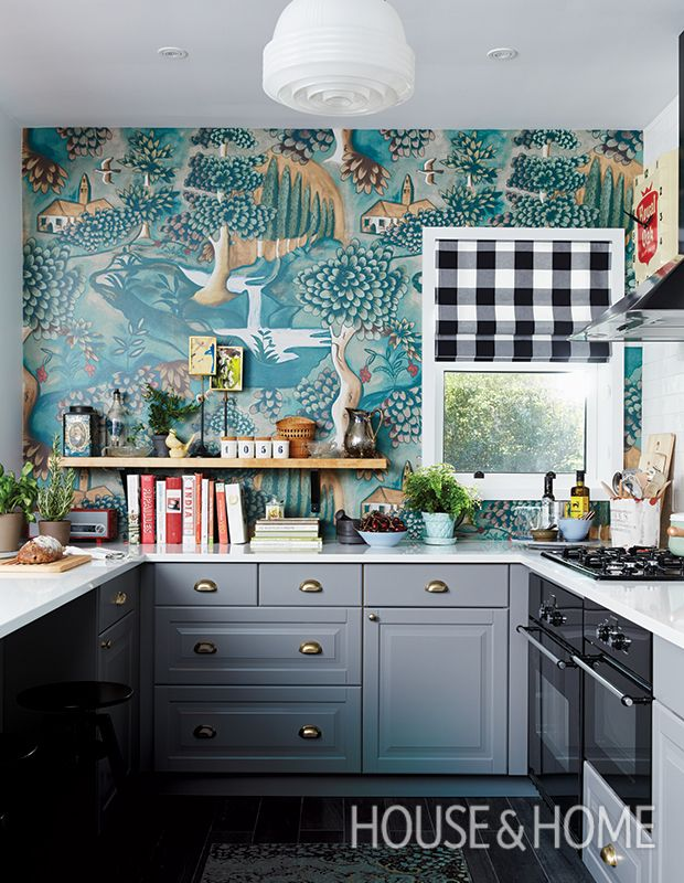 1550 best kitchen storage images on pinterest for the for Statement kitchen wallpaper