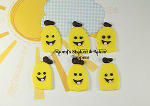 Banana's in pyjama's toppers Every child knows the song and for those who LOVE the show WELL this is the topper for your CUPCAKES!! You will receive 12 of them.