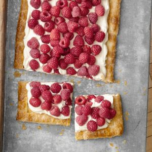 Quick and Easy Raspberry Tart #recipes #dessert