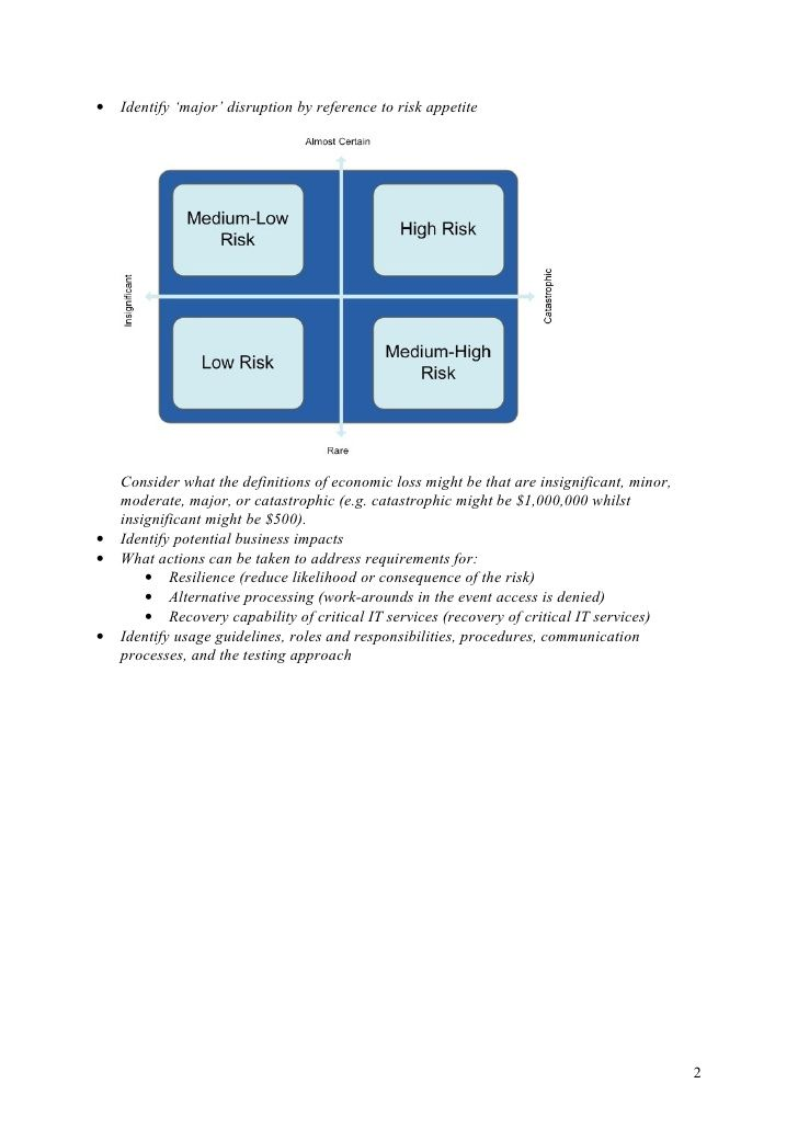 Example Business Continuity Plan For Business Continuity Plan