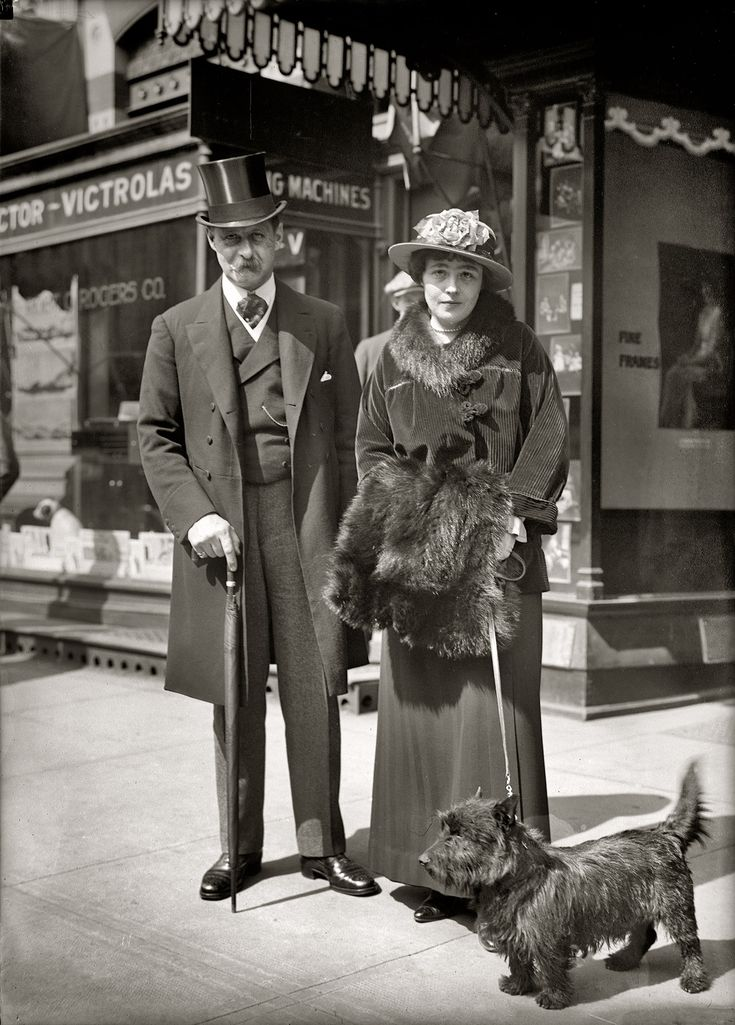 "Circa 1915 glass negative taken outside a Victrola ""talking machine"" store in Washington, D.C."