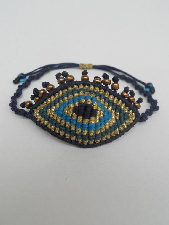 Evil eye macrame bracelet with eyelashesThe by LuckyRatJewellery, €14.00