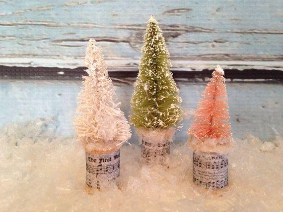 Weihnachtsbaum-Satz von 3 Flaschen Bürste von thegiftgardenshoppe