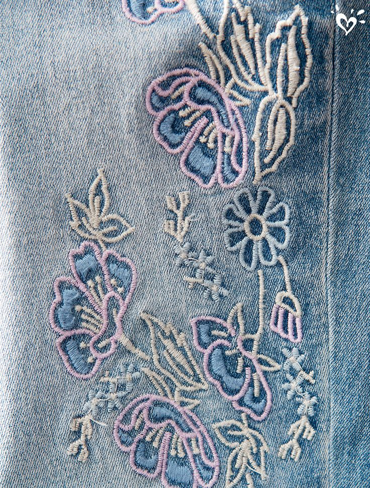 Shimmering stitches on denim is runway perfect for every fashionista.
