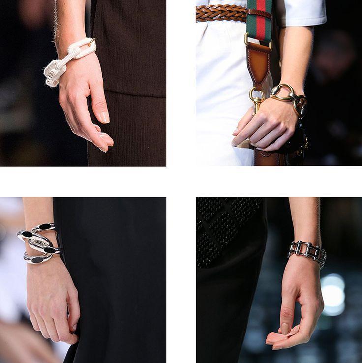 in detail catwalk SS15 the bracelet trend 01 THE REIGN OF THE BRACELET