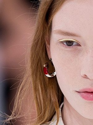 The Pastel Eye Trend You Need to Try This Year: Daily Beauty Reporter :  We've seen makeup artist Peter Phillips attach some weird stuff to models' eyelids (neoprene, metallic paper, leather). But none made us go quite as crazy as we did for the satin pastel liners he pulled out of his kit...
